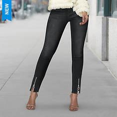 Zip Hem Skinny Skinny Jean