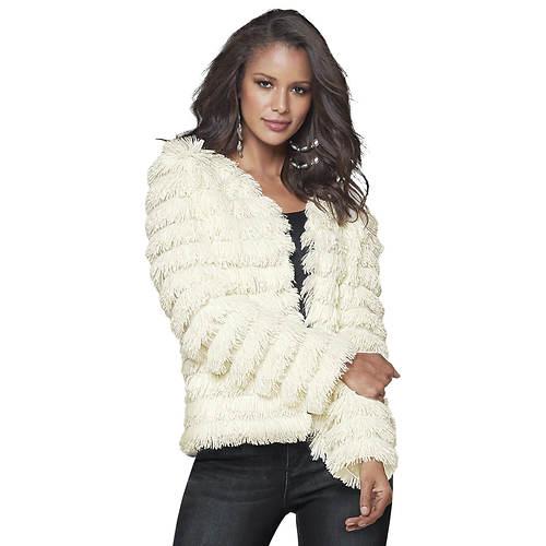 Tiered Faux Fur Jacket