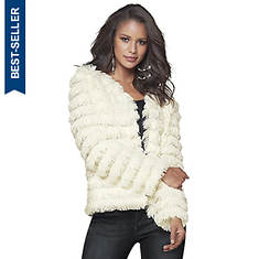 Tiered Faux Fur Jacket