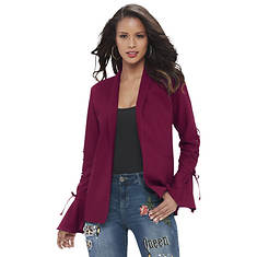 Lace-Up Bell-Sleeve Blazer