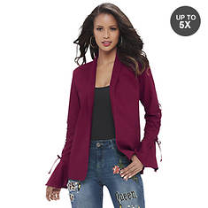 Bell Sleeve Lace Up Detail Blazer