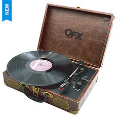 QFX USB-Enabled Suitcase Turntable