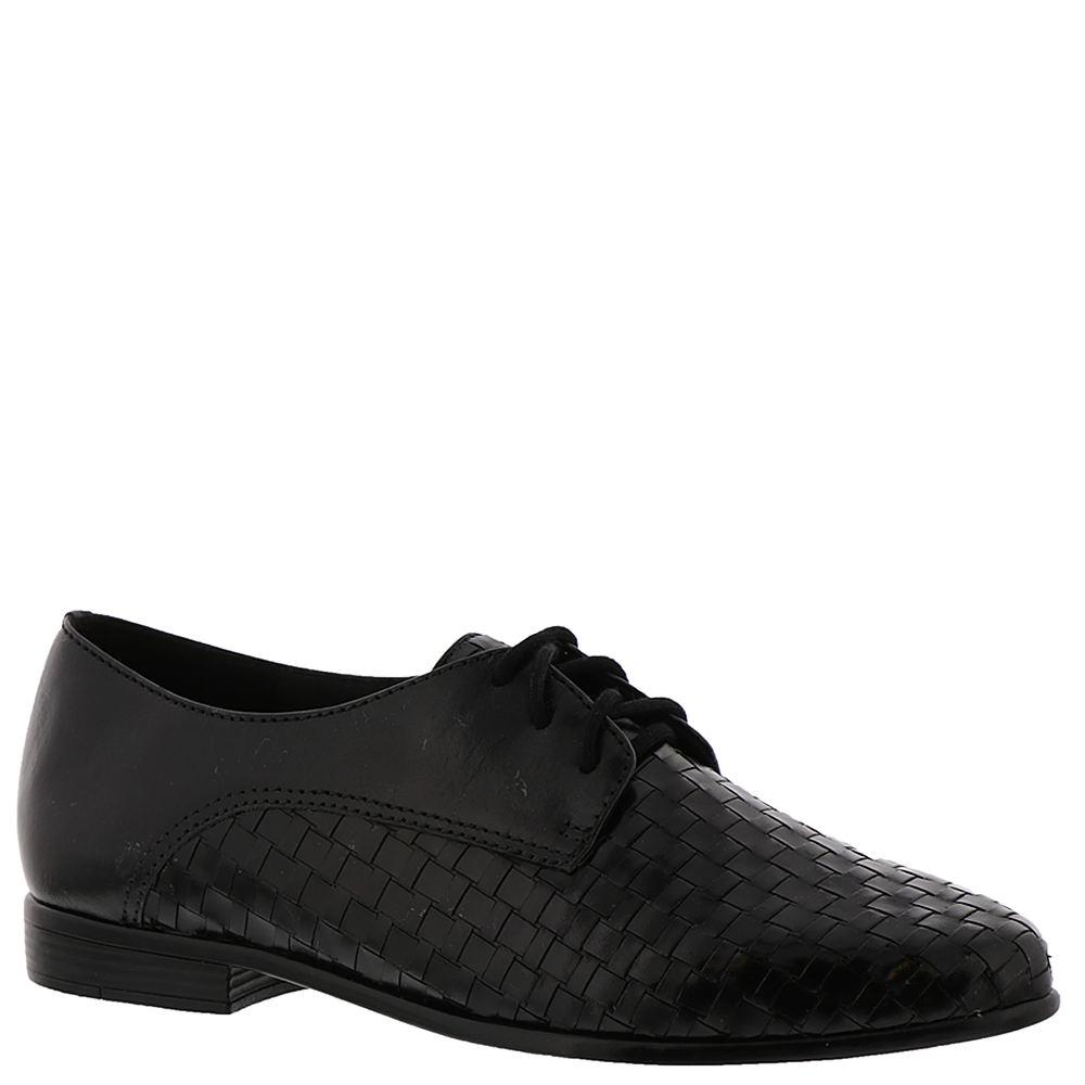 1930s Shoes – Art Deco Shoes, Heels, Boots, Sandals Trotters Lizzie Womens Black Oxford 8 W2 $109.95 AT vintagedancer.com