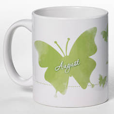 Personalized Birth Month Butterfly Mug - August