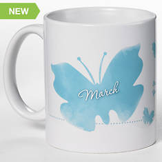 Personalized Birth Month Butterfly Mug - March