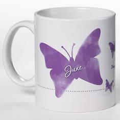 Personalized Birth Month Butterfly Mug - June