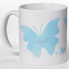 Personalized Birth Month Butterfly Mug - April