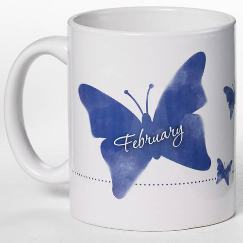Personalized Birth Month Butterfly Mug
