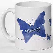 Personalized Birth Month Butterfly Mug - February