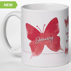 Personalized Birth Month Butterfly Mug - January