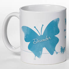 Personalized Birth Month Butterfly Mug - December