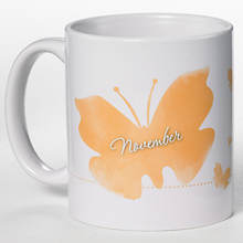 Personalized Birth Month Butterfly Mug - November