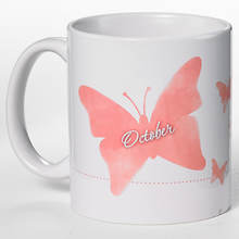 Personalized Birth Month Butterfly Mug - October