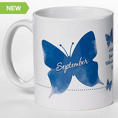 Personalized Birth Month Butterfly Mug - September