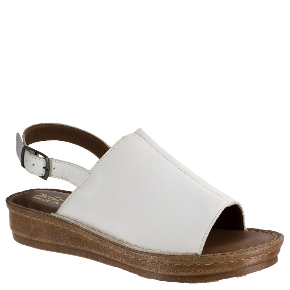 22a0fa4a7e7199 Bella Vita Women s Wit-italy Slingback Sandal 9 W White Italian Leather