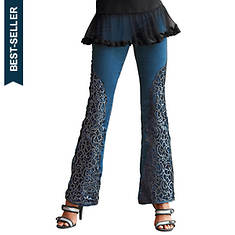 Lace & Glitter Embellished Jean
