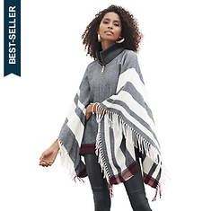Striped Zip-Up Poncho
