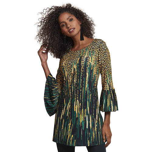 Printed Bell-Sleeve Tunic