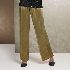 Micropleated Gold Pant