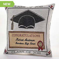 Personalized 2018 Graduation Pillow