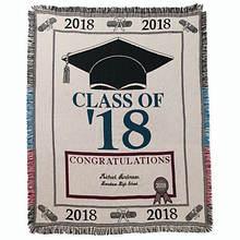 Personalized 2018 Graduation Throw