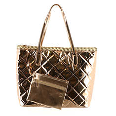 Mirrored Metallic Tote