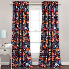 Lush Decor Pixie Fox Room Darkening Window Curtain Panel Set