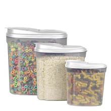 3-Piece Plastic Cereal Container