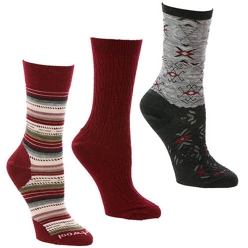 Smartwool Women's Trio 2 3-Pack Crew Socks