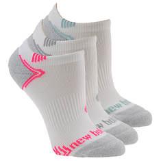 New Balance Women's N442-3 Run No Show 3-Pack Socks