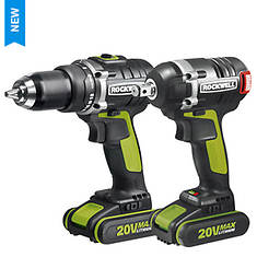 Rockwell 2-Piece 20V Drill and Impact Wrench Kit