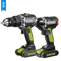 Rockwell 2-Piece 20V Hammer Drill and Impact Driver