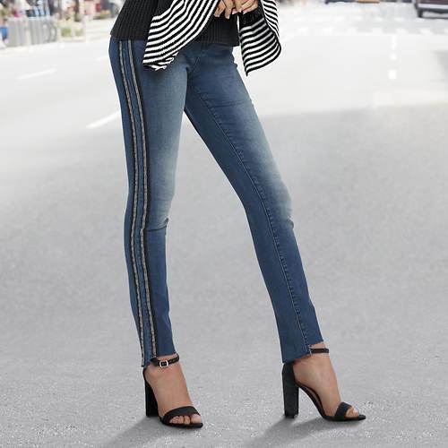 Side Stripe Skinny Jean