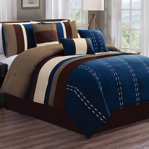 Luxor Navy 7-Pc. Comforter Set