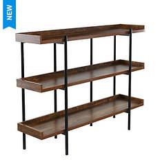 Wood and Steel 3-Shelf display