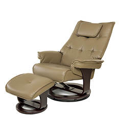 Massage Recliner with Lumbar Heat and Ottoman