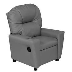 Youth Recliner with Cupholder and Dual USB Ports