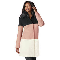 Colorblock Wool-Blend Coat