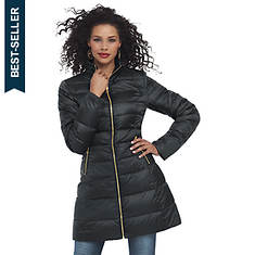 Fit-And-Flare Puffer Coat
