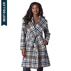 Wide-Collar Robe Coat