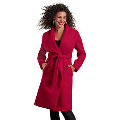 Wide-Collar Robe Coat