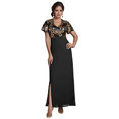 Sequin Flutter Maxi Dress