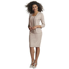 Glitter Pattern Jacket & Dress Set