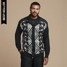 Stacy Adams Men's Diamond-Knit Hidden-Zip Sweater