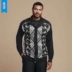 Stacy Adams Men's Diamond-Knit Hidden-Zip Sweater