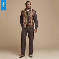 Stacy Adams Men's Double-Collar Sweater Set