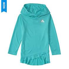 adidas Girls' Melange Hoodie Ruffle