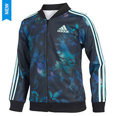 adidas Girls' Floral Glow Tricot Jacket