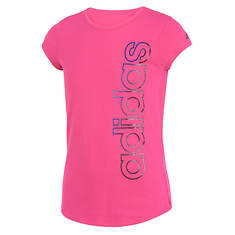 adidas Girls' SS Three Stripe Life Tee