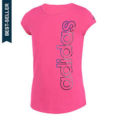 adidas Girls' SS Three Stripe Life Tee